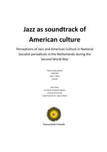 Jazz as soundtrack of American culture