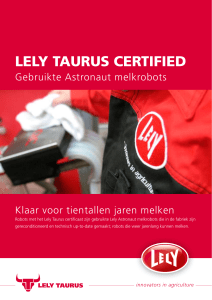 LELY TAURUS CERTIFIED
