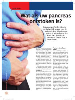 voeding bij pancreatitis