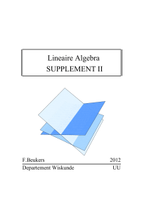 Lineaire Algebra SUPPLEMENT II