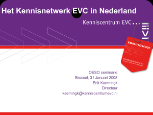 Het kenniscentrum EVC in Nederland