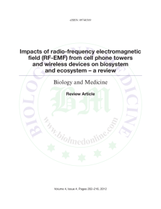Impacts of radio-frequency electromagnetic field (RF-EMF)