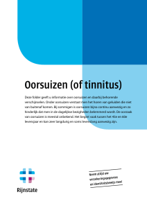 Oorsuizen (of tinnitus)