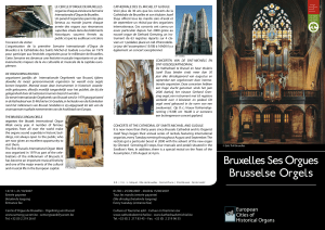 Bruxelles Ses Orgues Brusselse Orgels - Parish of Notre
