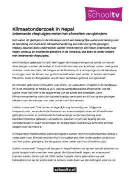 Klimaatonderzoek in Nepal