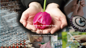 Workshop Palliatieve Zorg