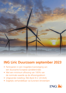 Brochure ING Liric Duurzaam september 2023