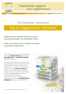 Mg of magnesium mineraal