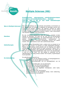 Flyer MS - Oefentherapie Bunnik