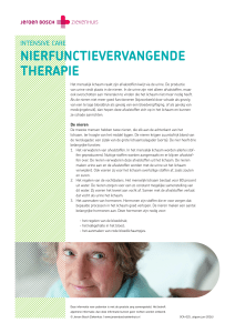 Niervervangende therapiën