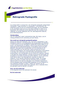 Retrograde Pyelografie