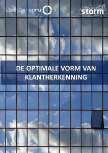 Whitepaper: De optimale vorm van klantherkenning