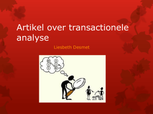 Artikel over transactionele analyse