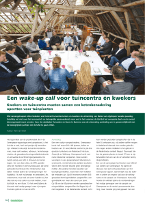 Een wake-up call voor tuincentra én kwekers