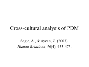Cross-cultural analysis of PDM