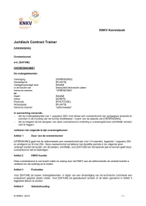Juridisch Contract Trainer