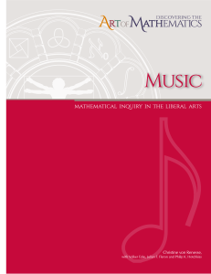 Music - mathematical inquiry - Christine von Renesse