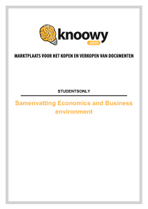 Samenvatting-Economics-and-Business-environment