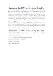 Hangzhou Rainbow (UBL) Interlining Co., Ltd