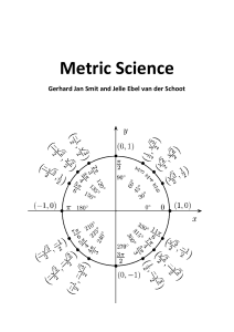 Metric Science