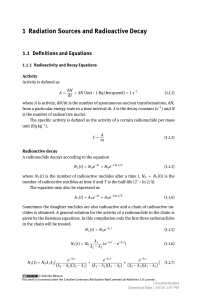 [9783110442069 - Exercises with Solutions in Radiation Physics] 1 Radiation Sources and Radioactive Decay