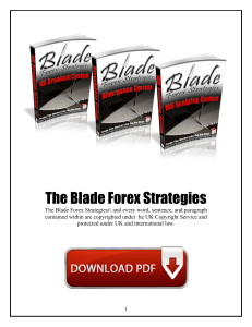 Blade Forex Strategies Free PDF Download eBook