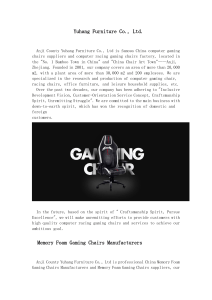 Pu Gaming Chair -- Yuhang Furniture Co., Ltd