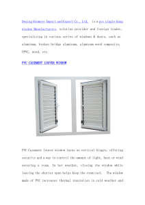 PVC CASEMENT LOUVER WINDOW