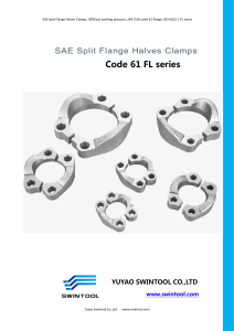 3. SAE SPLIT FLANGE CLAMPS code 61 FL series