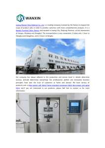 Jiaxing Wanxin New Material Co., Ltd.