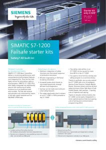 SIMATIC S7-1200 failsafe starterkit