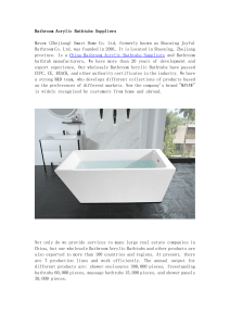 Bathroom Acrylic Bathtubs