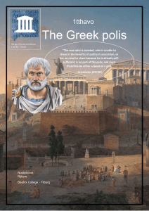the Greek polis def