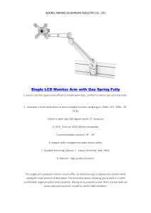 China high quality adjustable computer monitor arm manufacturers