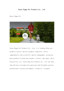 Yuyao Pugga Pet Products Co