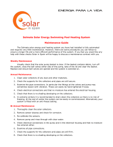 Solmate Solar Energy Pool Heating System Maintenance & Fault Diagnosis Guide